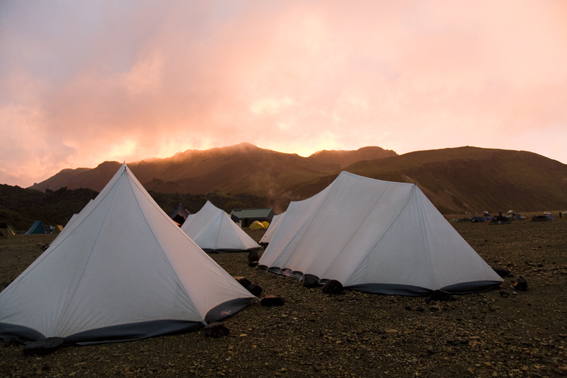Camping in Þórsmörk valley