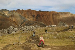 Hiking in The Landmannalaugar Area